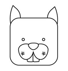 Cute chipmunk animal head expression vector