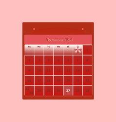 Design schedule monthly november 2014 calendar vector