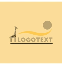 Flat icon on background giraffe logo vector