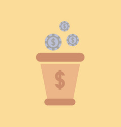 flat icon on stylish background money bag vector image