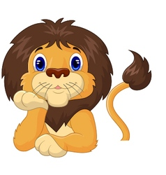 Funny lion relaxing vector image vector image