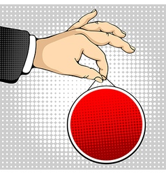 Hand holding a sign vector image