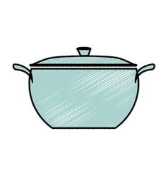 Kitchen pot isolated icon vector