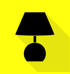 Lamp sign black icon with flat style vector