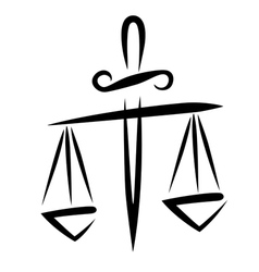 libra of justice vector image vector image