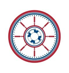 Lifebuoy symbol on white vector image