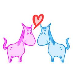 Love horses vector