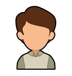 Man cartoon faceless vector