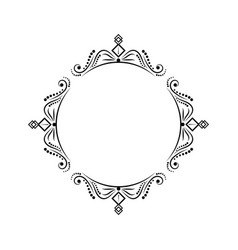 Round classic vintage black frame vector