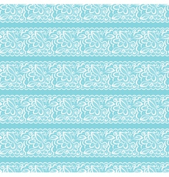 seamless background White lace on light blue vector image