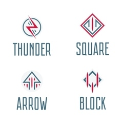 Set of abstract logo symbols abd signs for event vector image vector image