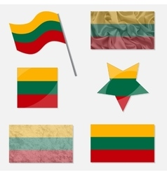 Set with Flags of Lithuania vector image vector image
