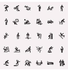 Stick figures incidents and accidents vector