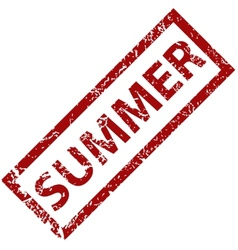 Summer rubber stamp vector