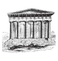 Temple of theseus at athens temple of hephaestus vector