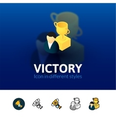 Victory icon in different style vector