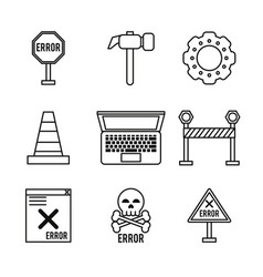White background with monochrome icons of daily vector