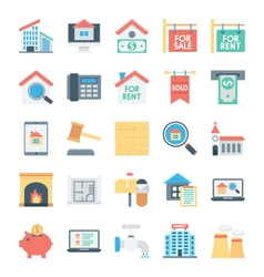 Real estate colored icons 2 vector