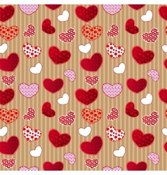 Red vintage love valentins day seamless pattern vector