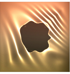 Abstract glowing point noise vector