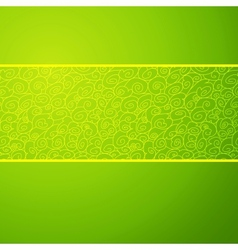 Green wave horizontal ornamental background vector