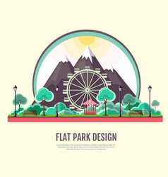 flat style modern design of public park vector image