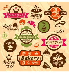 bakery badges and label vector image
