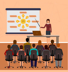 business people seminar group office employee on vector image