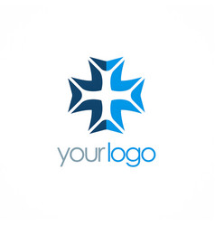 cross plus logo vector image