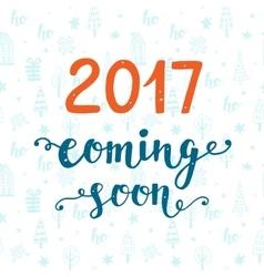 2017 year coming soon vector