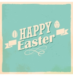 Happy easter typography background vector