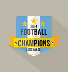Soccer or football champions badge vector