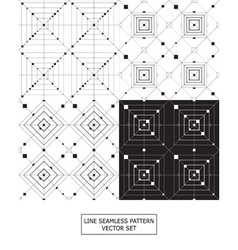 set of linear textures vector image
