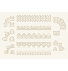 Set of lace ribbons vector