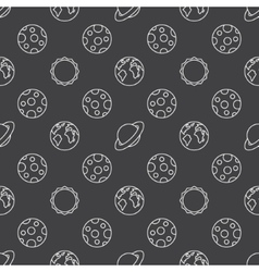 Space planets seamless pattern vector