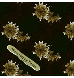 Abstract floral background flowers fabric vector