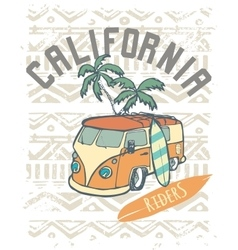 California Riders label design for posters t vector image
