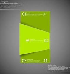 Bar motif randomly divided to three green parts on vector image