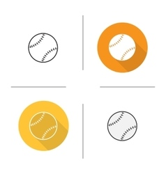 Baseball ball icons vector
