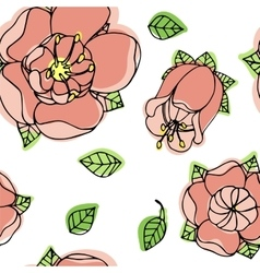 beautiful floral pattern vector image vector image