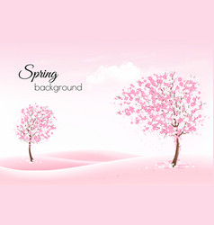 beautiful spring nature background with a vector image vector image