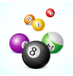 Billiard balls background vector