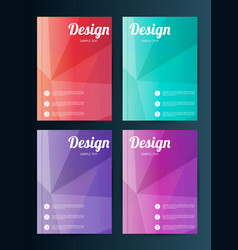 Business template for flyer banner placard vector