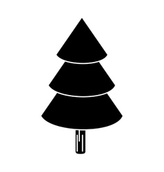 Canadian evergreen tree pine pictogram vector