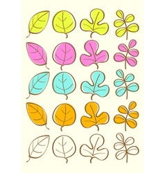 Colored autumn leaves vector image vector image