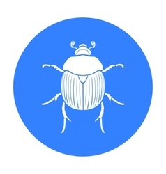 Dor-beetle icon in black style isolated on white vector
