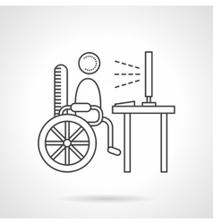 Education for disabilities flat line icon vector
