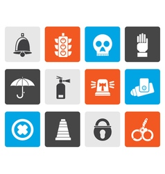 Flat surveillance and security icons vector
