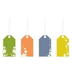 flower gift tags vector image vector image