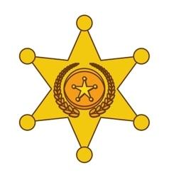Gold police bradge icon design vector